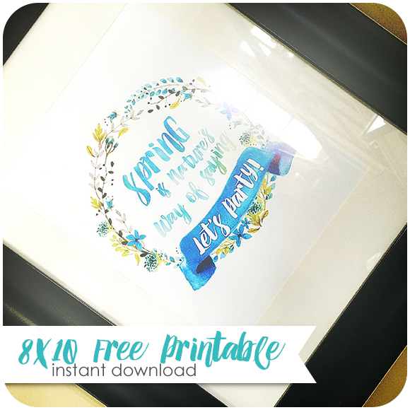 Watercolor Free Spring Printable